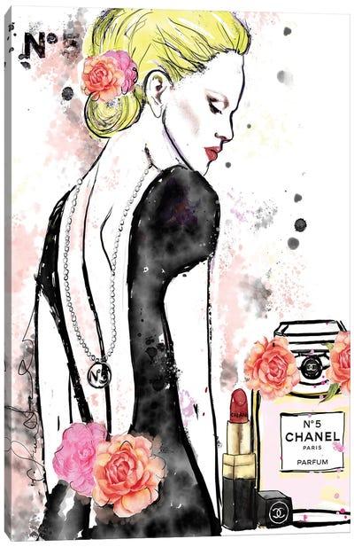 Chanel No 5 Nicole Kidman Canvas Art Print