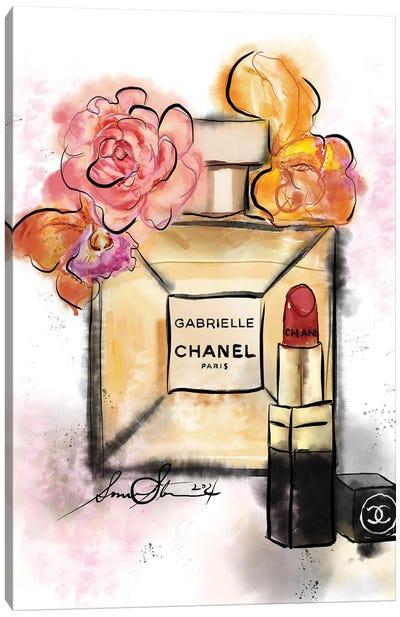Gabrielle Chanel Perfume Watercolor Painting Canvas Art Print