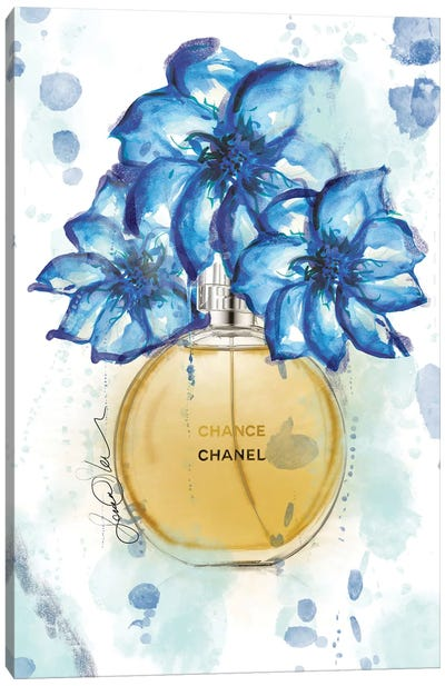 Chanel Chance Watercolor Perfume Bottle Art Canvas Art Print