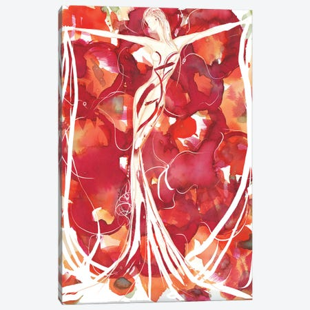 Abstract Watercolor Figure Art 3-Piece Canvas #SLL7} by Sonia Stella Canvas Art Print