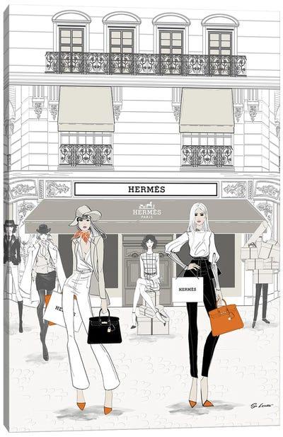 Hermes Store Front Canvas Art Print