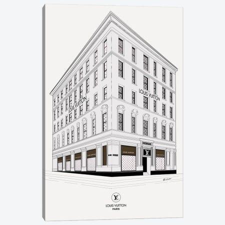 Louis Vuitton Corner Canvas Print #SLR17} by So Loretta Canvas Art Print