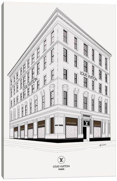 Louis Vuitton Corner Canvas Art Print