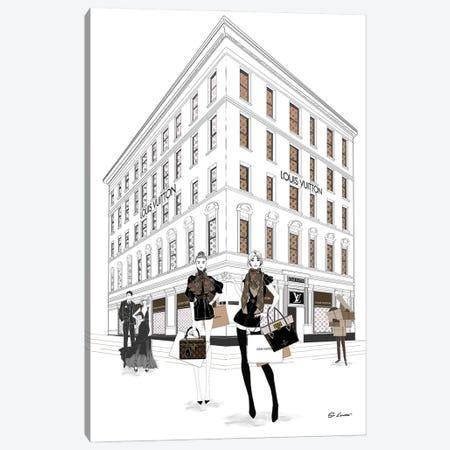 Louis Vuitton Girls Canvas Print #SLR18} by So Loretta Canvas Artwork