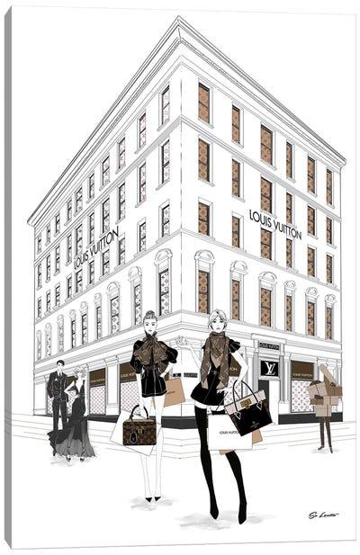 Louis Vuitton Girls Canvas Art Print