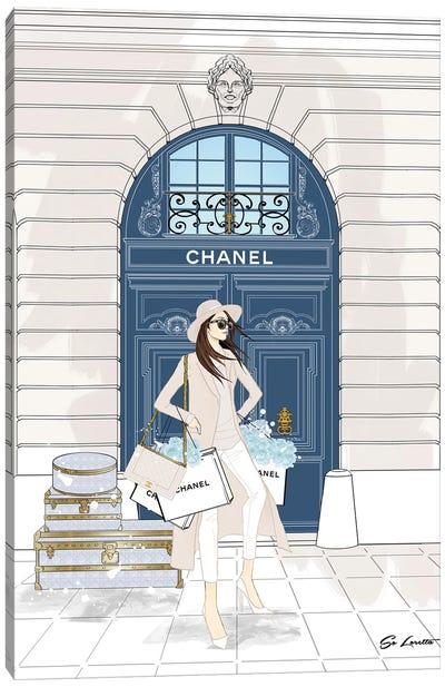 Chanel Blue Door Canvas Art Print