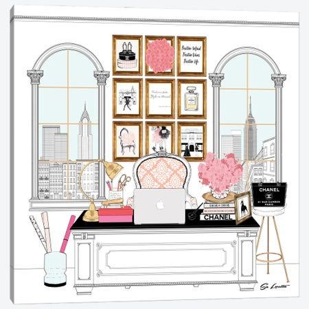 Workspace New York Canvas Print #SLR20} by So Loretta Canvas Print