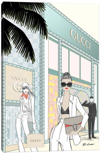 Gucci Store Front Canvas Art Print