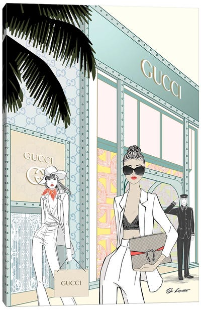 Gucci Store Front Canvas Art Print