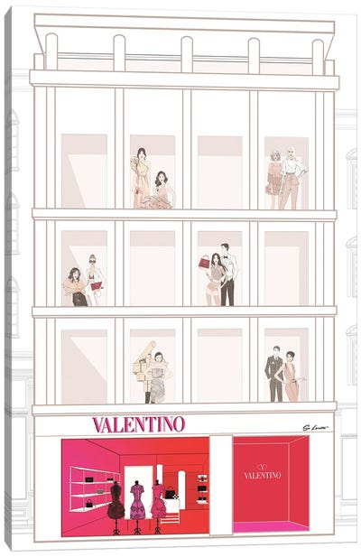 Valentino Store Front Canvas Art Print