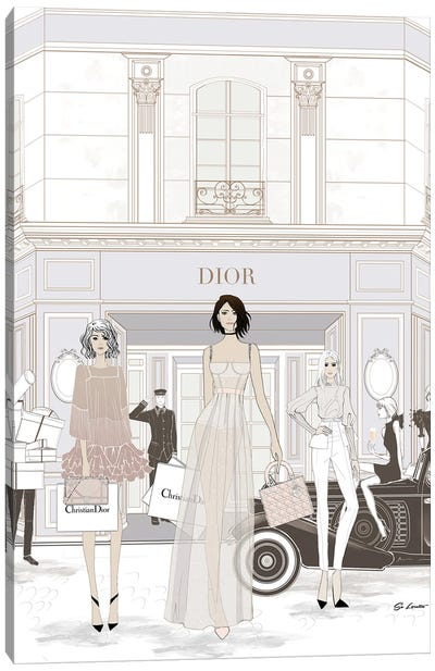 Dior Store Front Canvas Art Print