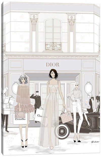 Dior Store Front Canvas Art Print