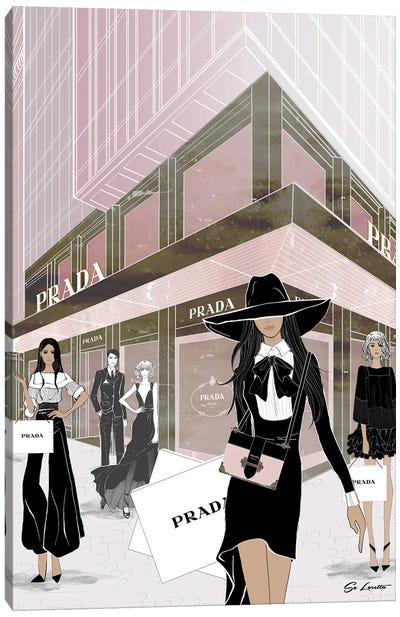 Prada Store Front Canvas Art Print
