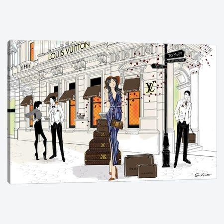 Lilly May Louis Vuitton Canvas Print #SLR27} by So Loretta Canvas Artwork