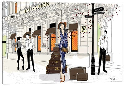Lilly May Louis Vuitton Canvas Art Print
