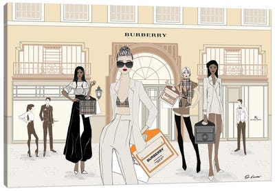 Burberry Store Front Canvas Art Print