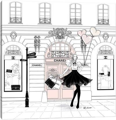 Chanel Pink Canvas Art Print