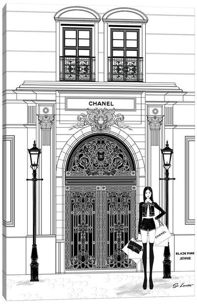 Jennie Chanel Canvas Art Print
