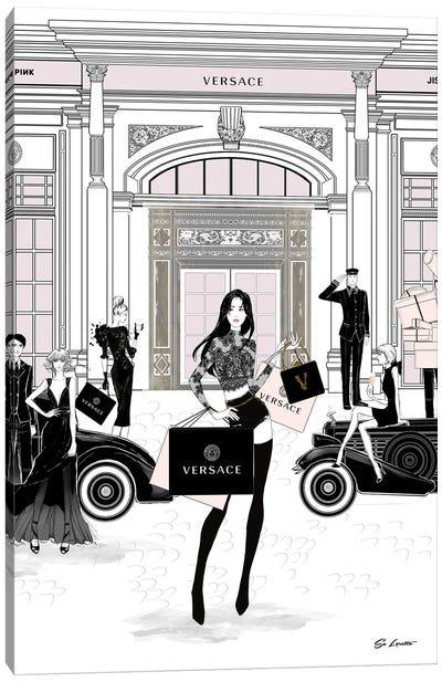 Jisoo Versace Canvas Art Print