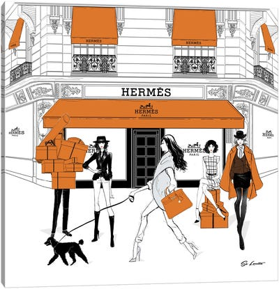 Hermes Orange Canvas Art Print