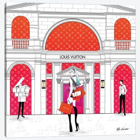 Lisa Louis Vuitton Sunset Canvas Print #SLR7} by So Loretta Canvas Art