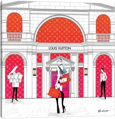 Lisa Louis Vuitton Sunset Canvas Art Print