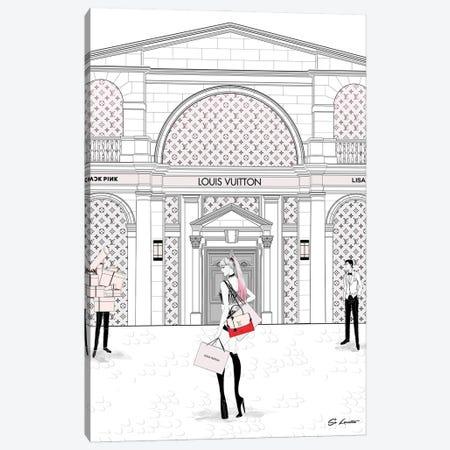 Lisa Louis Vuitton Canvas Print #SLR8} by So Loretta Art Print