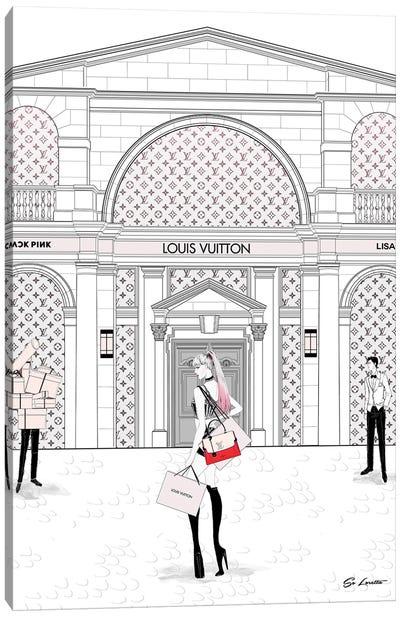 Lisa Louis Vuitton Canvas Art Print
