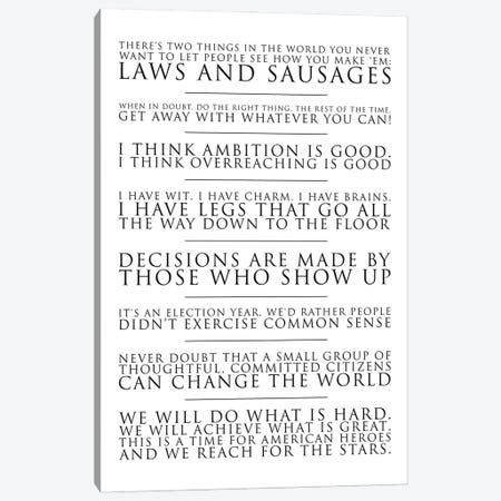 The West Wing Quotes Canvas Print #SLV104} by Simon Lavery Canvas Wall Art