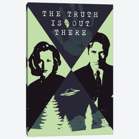 The X Files Poster Canvas Print #SLV105} by Simon Lavery Canvas Art
