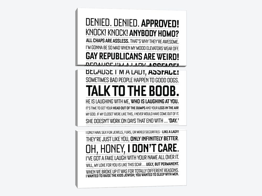 Will And Grace Quote II by Simon Lavery 3-piece Art Print