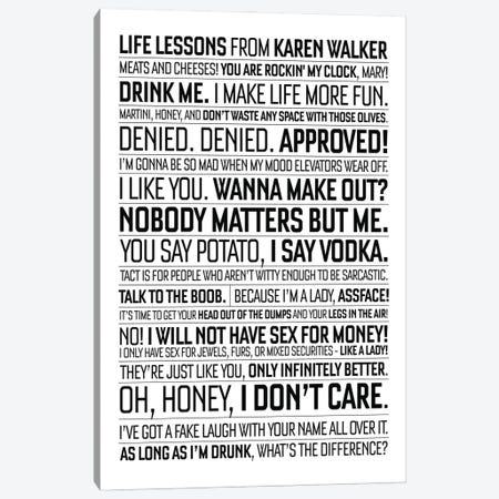 Will And Grace Quote Canvas Print #SLV111} by Simon Lavery Canvas Wall Art