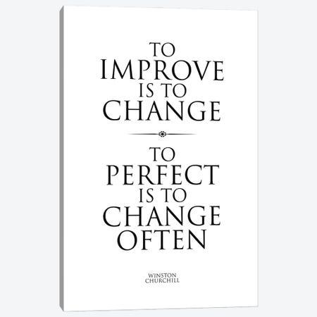 Winston Churchill Quote II Canvas Print #SLV112} by Simon Lavery Canvas Artwork