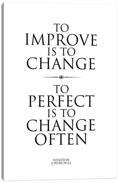 Winston Churchill Quote II Canvas Art Print