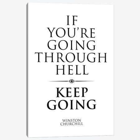 Winston Churchill Quote Canvas Print #SLV113} by Simon Lavery Canvas Artwork