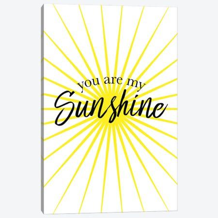You Are My Sunshine Canvas Print #SLV114} by Simon Lavery Art Print