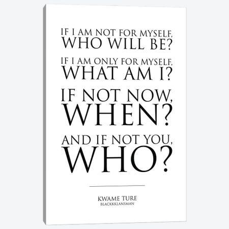 Blackkklansman Quote Canvas Print #SLV13} by Simon Lavery Canvas Art
