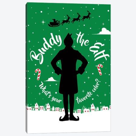 Buddy The Elf Canvas Print #SLV14} by Simon Lavery Art Print
