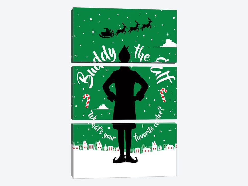 Buddy The Elf by Simon Lavery 3-piece Canvas Print
