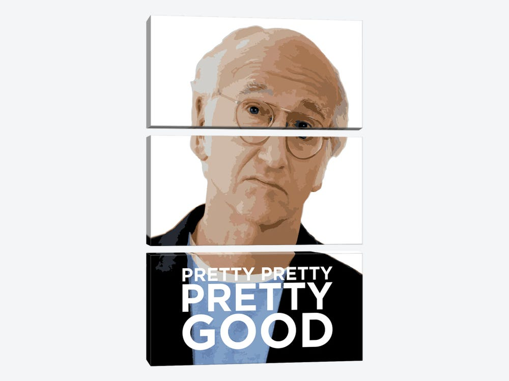 Curb Your Enthusiasm Graphic With Larry David by Simon Lavery 3-piece Canvas Wall Art