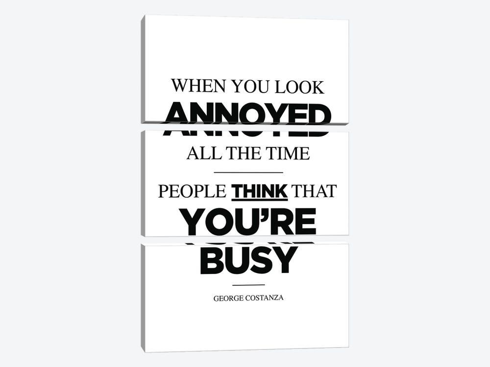 George Costanza Quote by Simon Lavery 3-piece Canvas Art Print