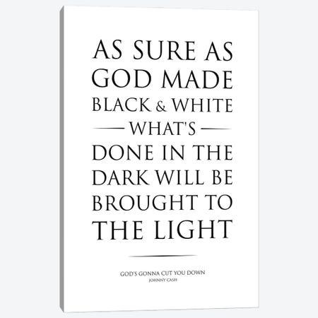 God'S Gonna Cut You Down, Lyric Canvas Print #SLV26} by Simon Lavery Canvas Artwork
