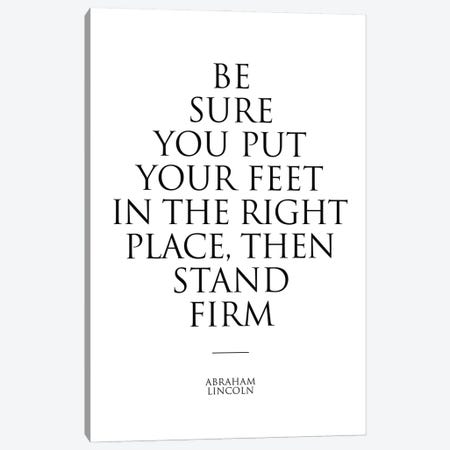 Abraham Lincoln Quote Poster Canvas Print #SLV2} by Simon Lavery Art Print