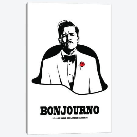 Inglorious Basterds, Bonjourno Canvas Print #SLV33} by Simon Lavery Canvas Wall Art