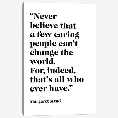 Margaret Mead, Quote Canvas Print #SLV59} by Simon Lavery Canvas Wall Art