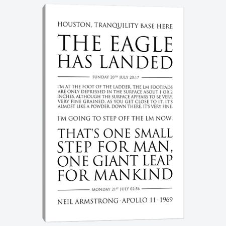 Neil Armstrong Quotes Canvas Print #SLV67} by Simon Lavery Canvas Wall Art