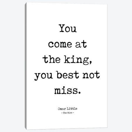 Omar Little's Quote From The Wire Canvas Print #SLV71} by Simon Lavery Canvas Artwork