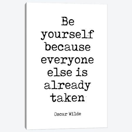 Oscar Wilde's Famous Quote Canvas Print #SLV72} by Simon Lavery Canvas Artwork