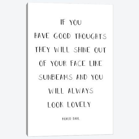 Roald Dahl Quote Canvas Print #SLV79} by Simon Lavery Canvas Artwork