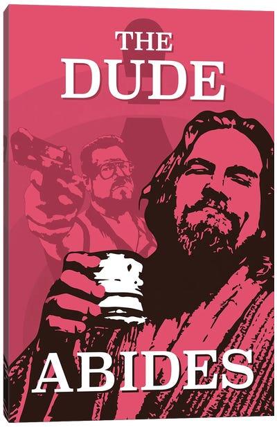 The Dude Abides Big Lebowski Canvas Art Print